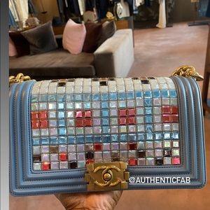 Chanel Limited Edition Mosaic small boy flap bag